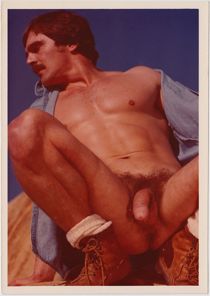 Target Studio: Male Nude Wearing Work Boots  vintage color photo