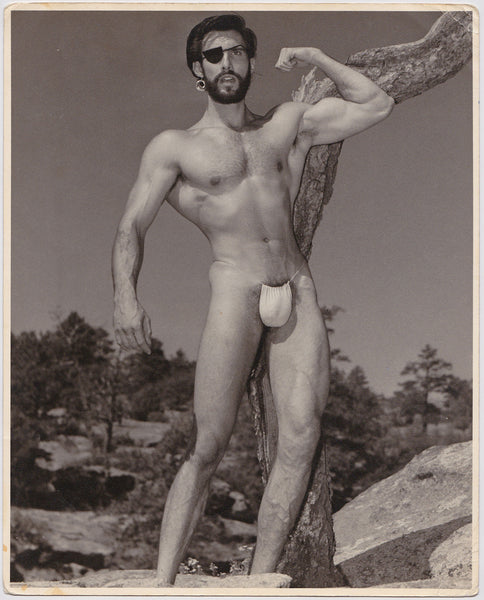 Western Photography Guild Vintage Photo Male Nude with Eye Patch