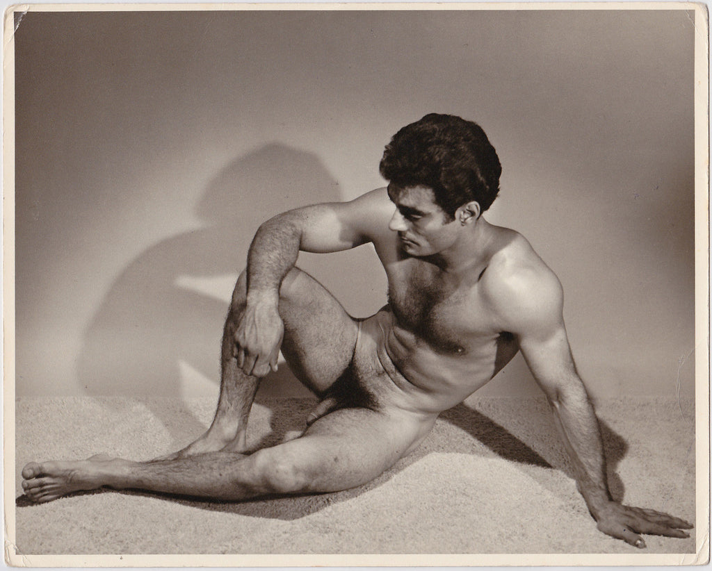 "Rare, large (8"" x 10"") vintage photo by Don Whitman / Western Photography Guild of handsome dark-haired model."