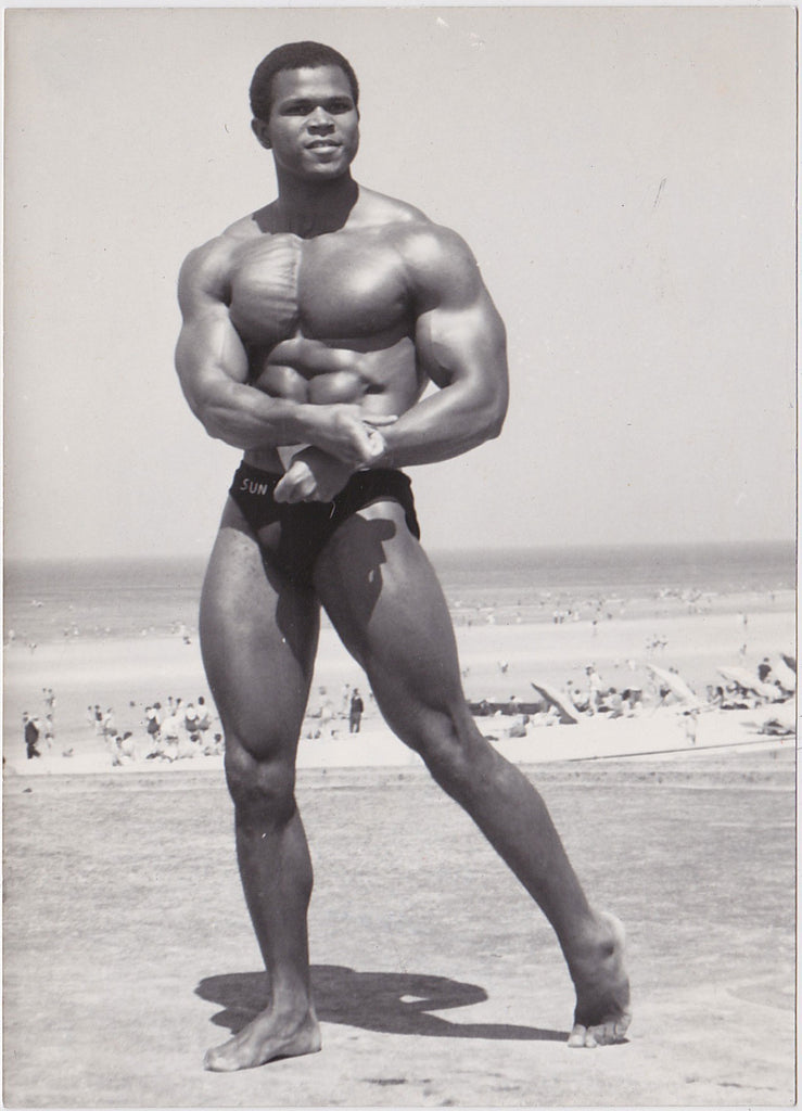 Serge Nubret vintage physique photo by Stan of Sweden