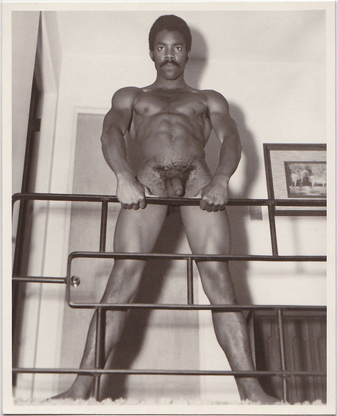 Western Photo Guild: Ronnie Moore at Railing vintage physique photo