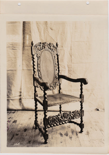 Altman Collection: Armchair with Cane Seat and Back vintage sepia photo