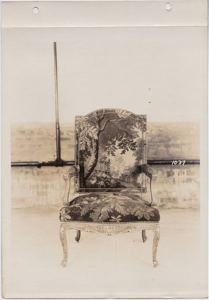 Altman Collection: Armchair with Tapestry Upholstery vintage sepia photo