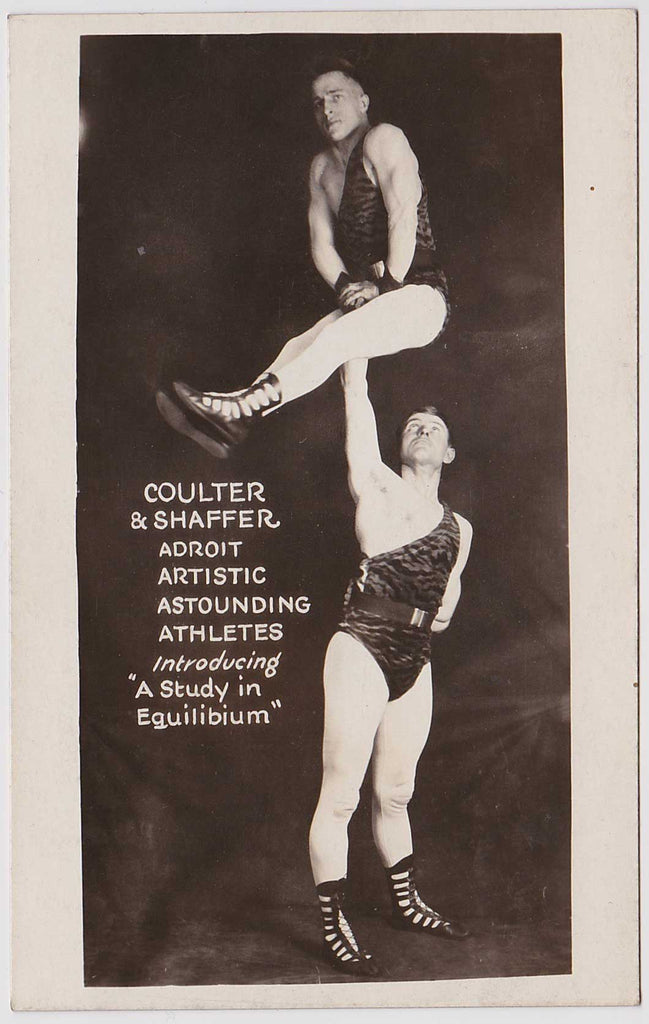 Coulter & Shaffer Acrobats: Real Photo Postcard