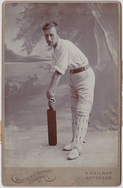 Studio Portrait of Handsome Cricket Player