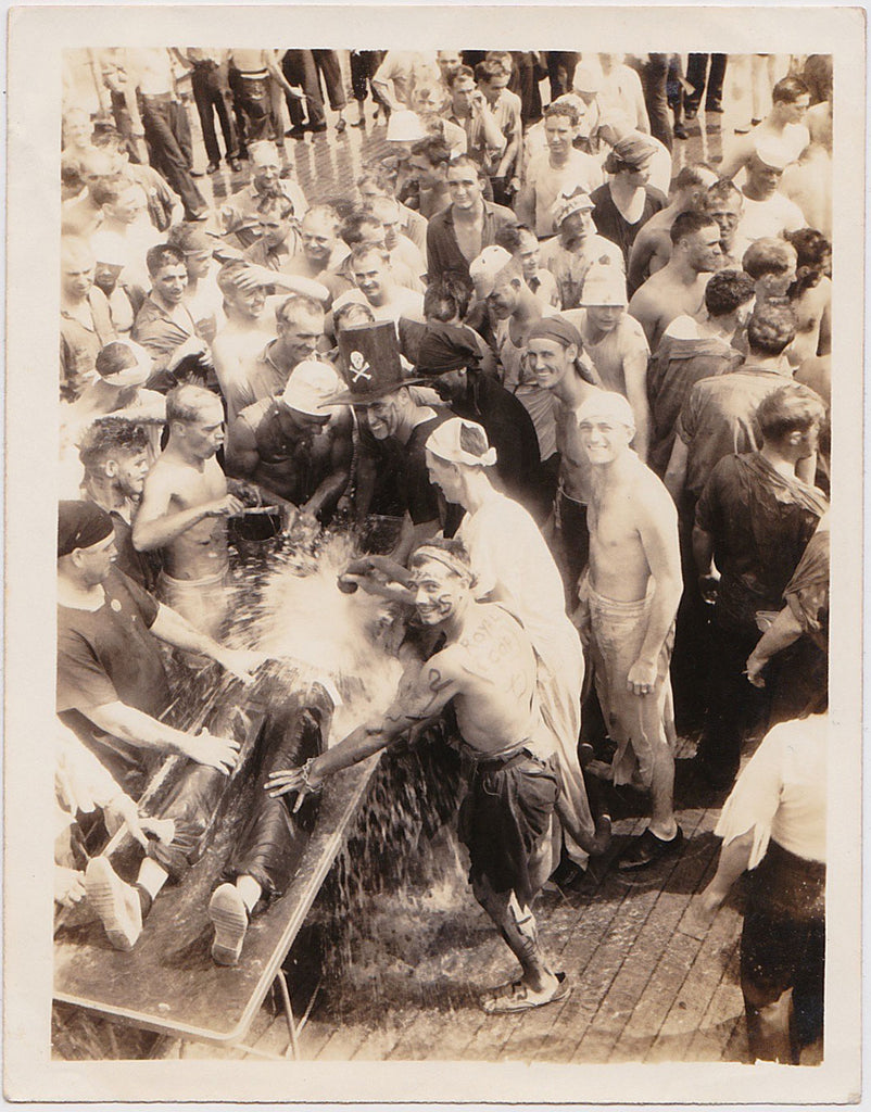 Crossing the  Line: Neptune Party: USS Black Hawk Oct 1930