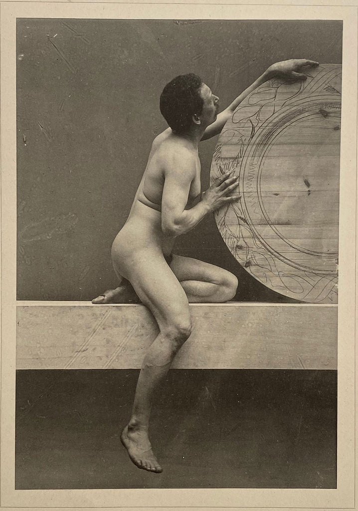 Plate #69, from Der Act Vintage Collotype  Male Nude Max Koch and Otto Rieth