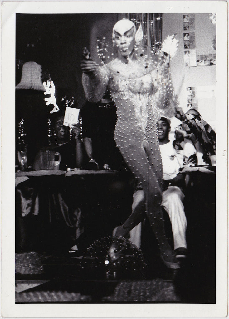 Contestant at Drag Ball vintage photo
