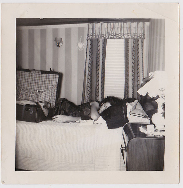 Woman Sleeping vintage photo