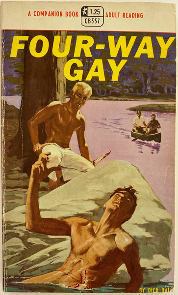 Four-Way Gay  Vintage Gay Pulp Novel by Dick Dale