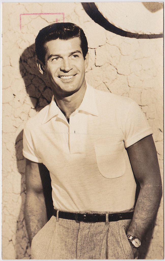 Handsome George Nader, postcard from Universal Studios c. 1950s.