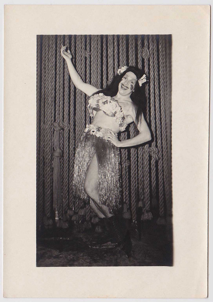 Sailor in Hula Drag: Vintage Gay Interest Photo