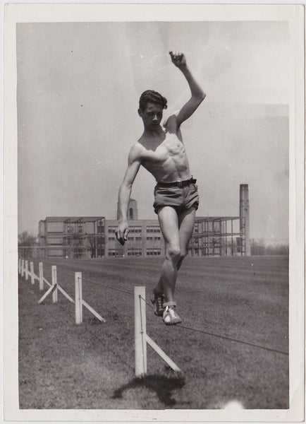 Athlete Balancing on Wire vintage photo