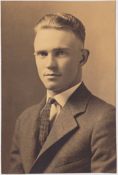 Studio Portrait of a Handsome Man vintage sepia photo