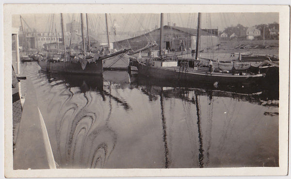 Harbor with Swirling Reflections vintage photo