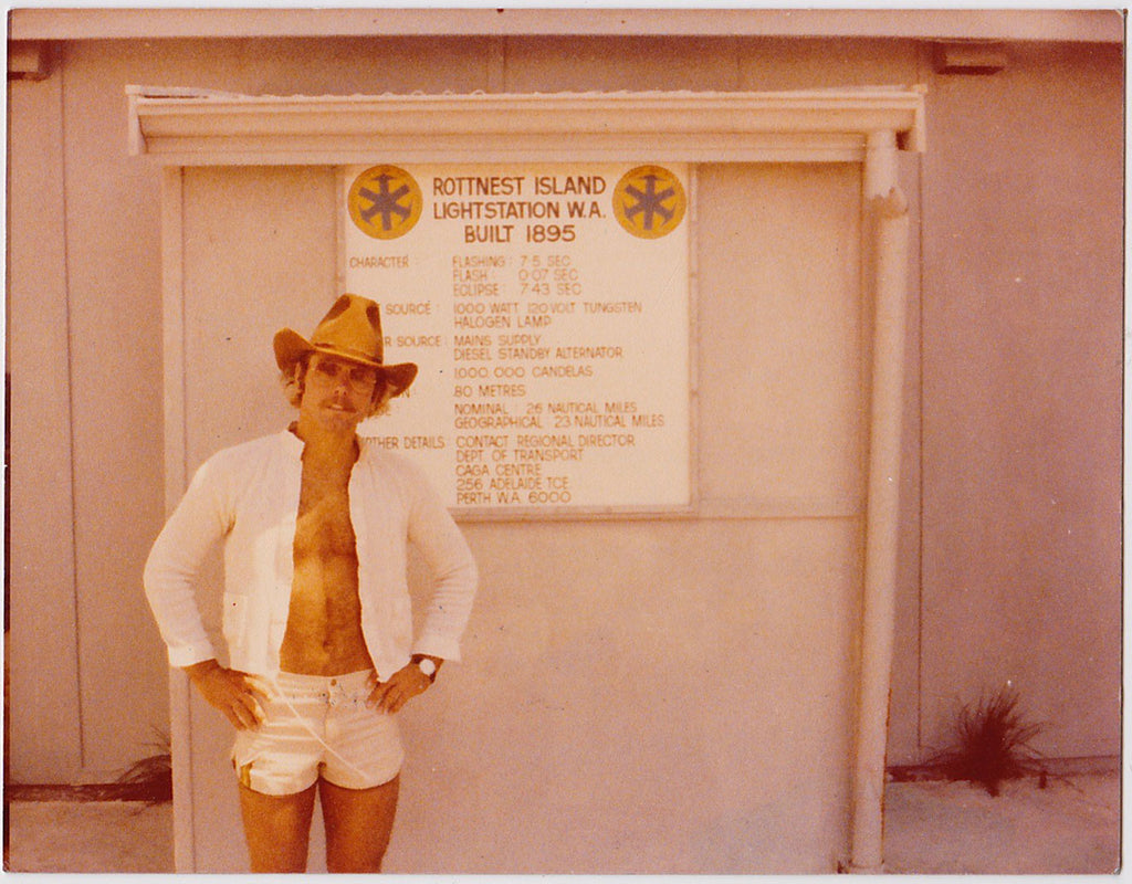 Cowboy in Hot White Shorts: Vintage Gay Photo