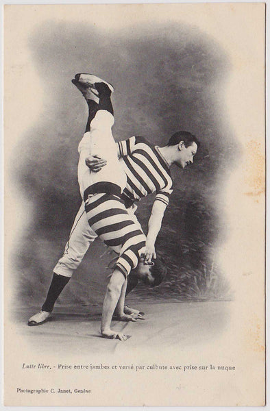 French Wrestlers: Real Photo Postcard