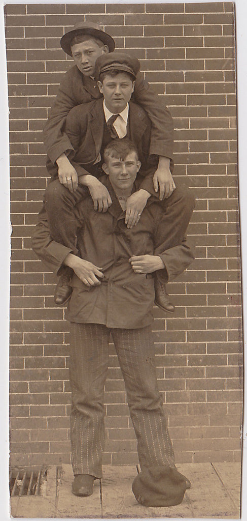 Tower of Men Vintage Snapshot