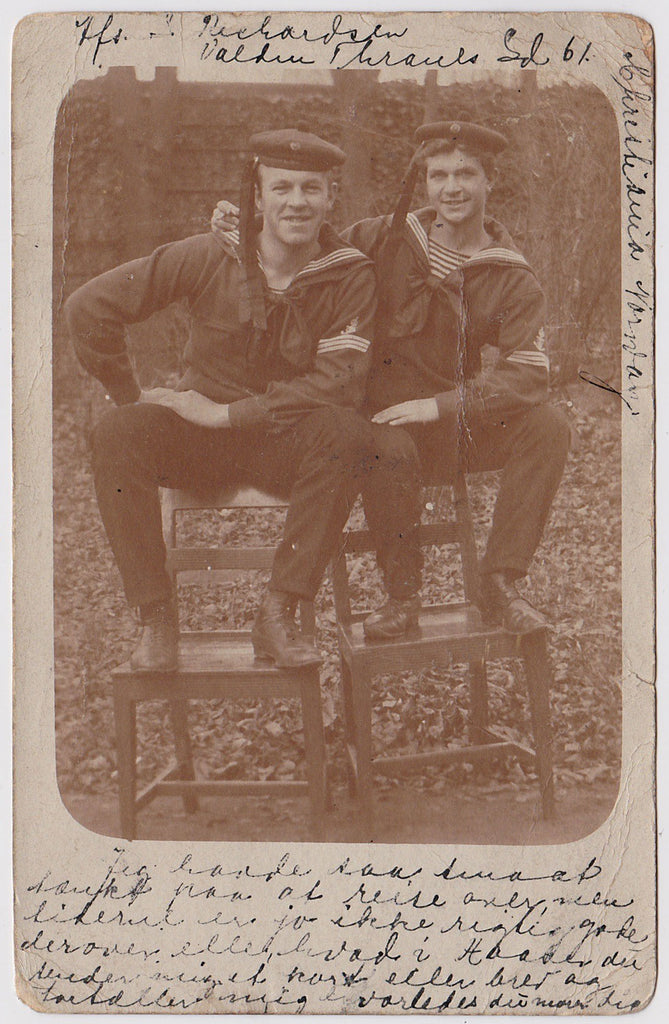 Affectionate Sailors: Real Photo Postcard