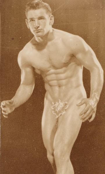 Anonymous Vintage Physique Photo: Male Nude with Fig Leaf