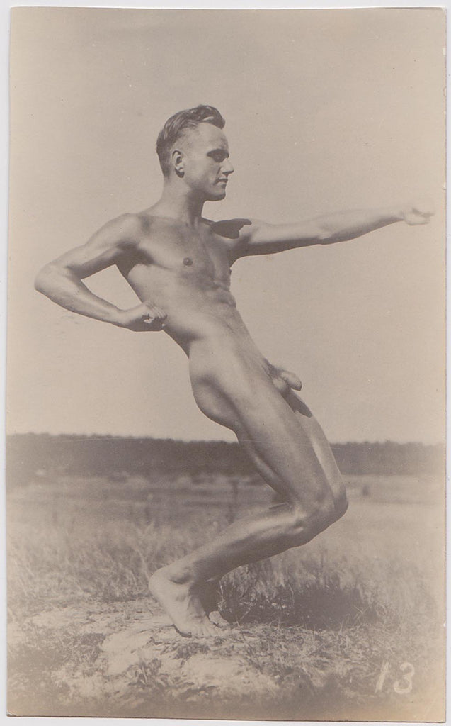 Vintage Physique Photo: Angular Male Nude