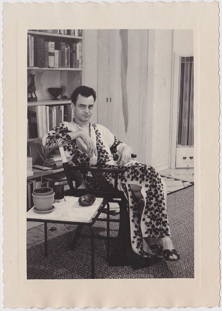 Man Wearing Elegant Robe Vintage Photo c. 1960