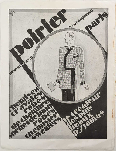 Poirier: Men's Fashion Ad, 1928