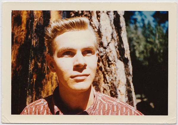 Handsome Man in Redwoods: Vintage Gay Interest Photo