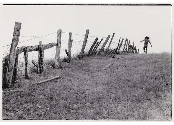 Crawford Barton Vintage Photo: Male Nude Running Along Fence