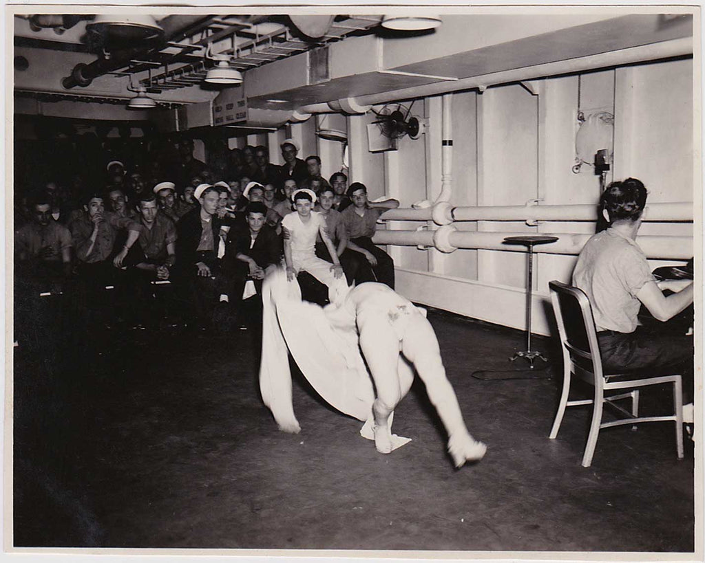 Sailor Doing a Backflip in Drag: Vintage Gay Interest Photo