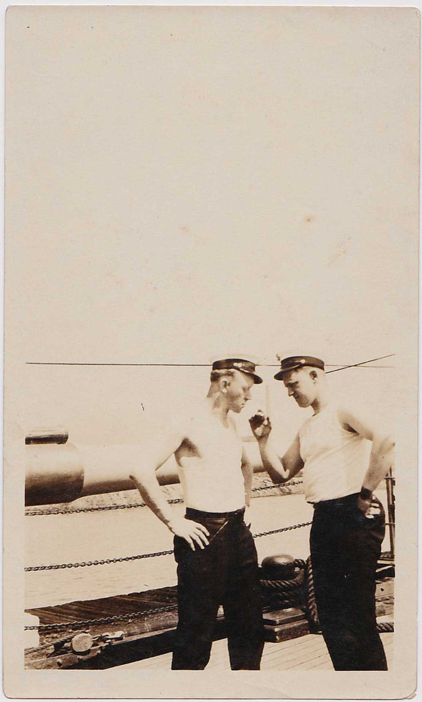 Two Sailors Arguing: Vintage Photo