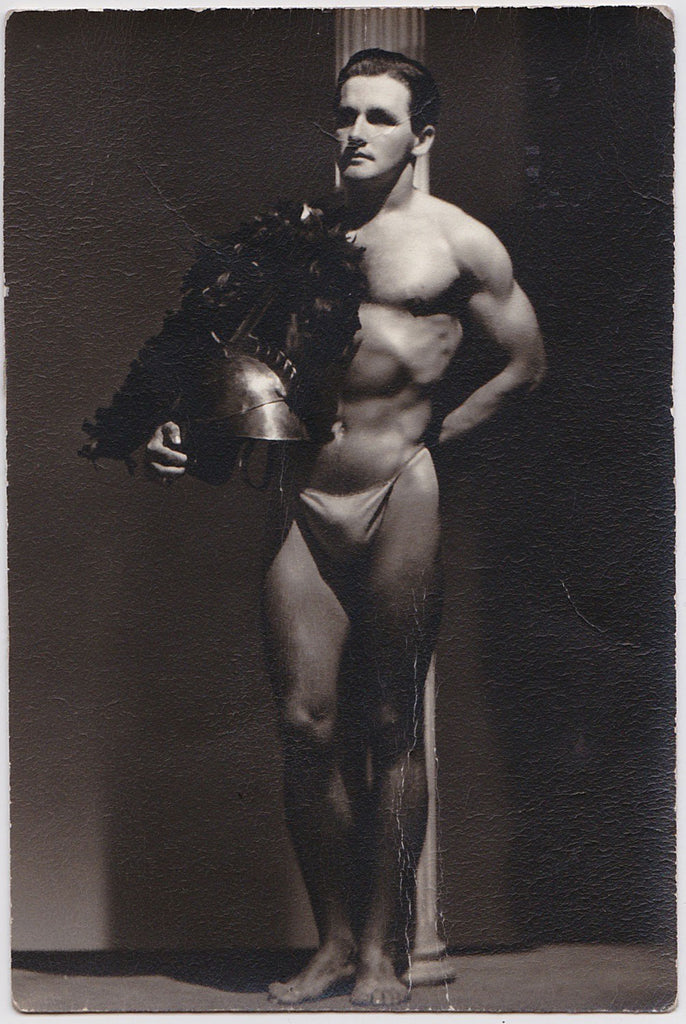 Spartan of Hollywood: Male Nude with Helmet