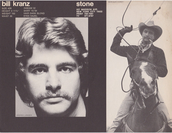 "Vintage ""Stone Men"" male model brochure. 4 pages, March 1972."
