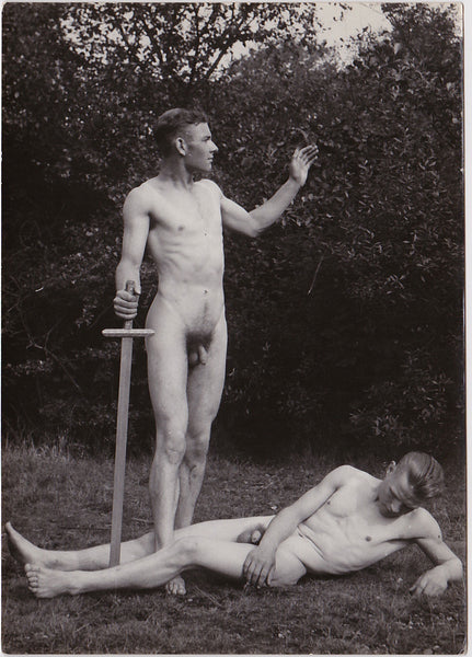 Anonymous Male Nudes with Sword