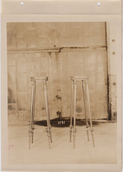 Altman Collection: Pair of Tables at a Crime Scene vintage sepia photo