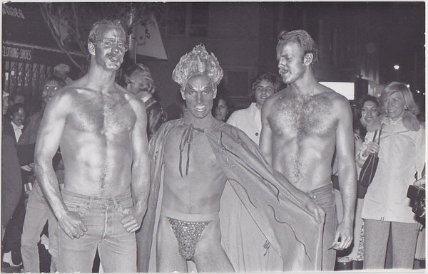 Three Golden Studs at Gay Pride: Real Photo Postcard Marie Ueda