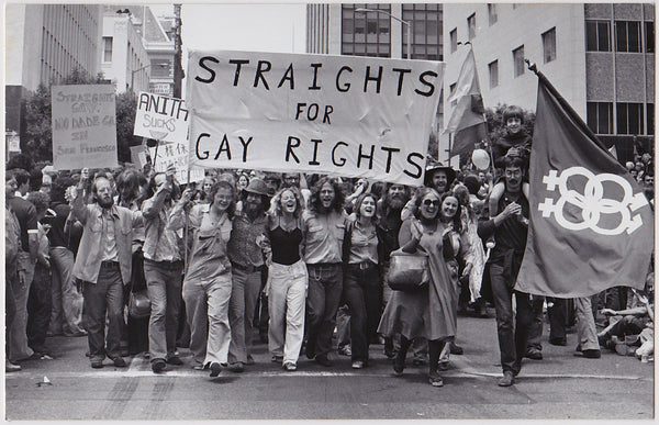 Straights for Gay Rights: Real Photo Postcard