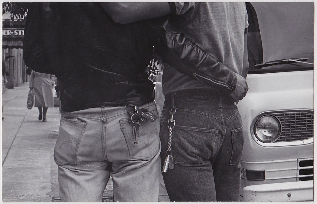 Two Guys in Tight Jeans: Real Photo Postcard