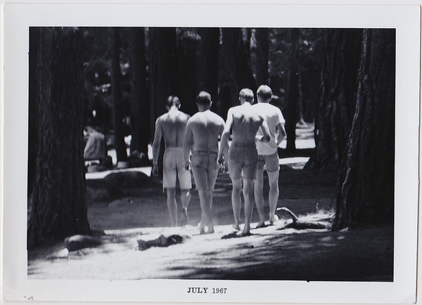 Voyeur Series: Men Walk into Woods
