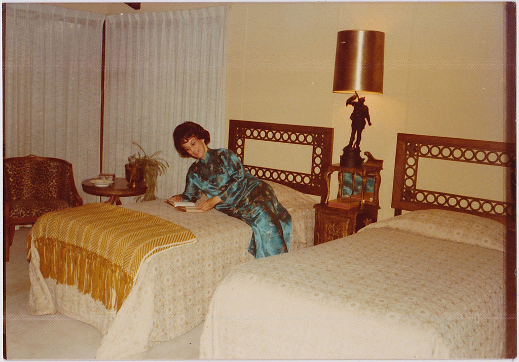 Woman on Bed original vintage photo
