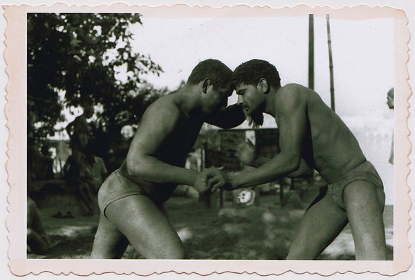 Vintage photo of two Indian Wrestlers