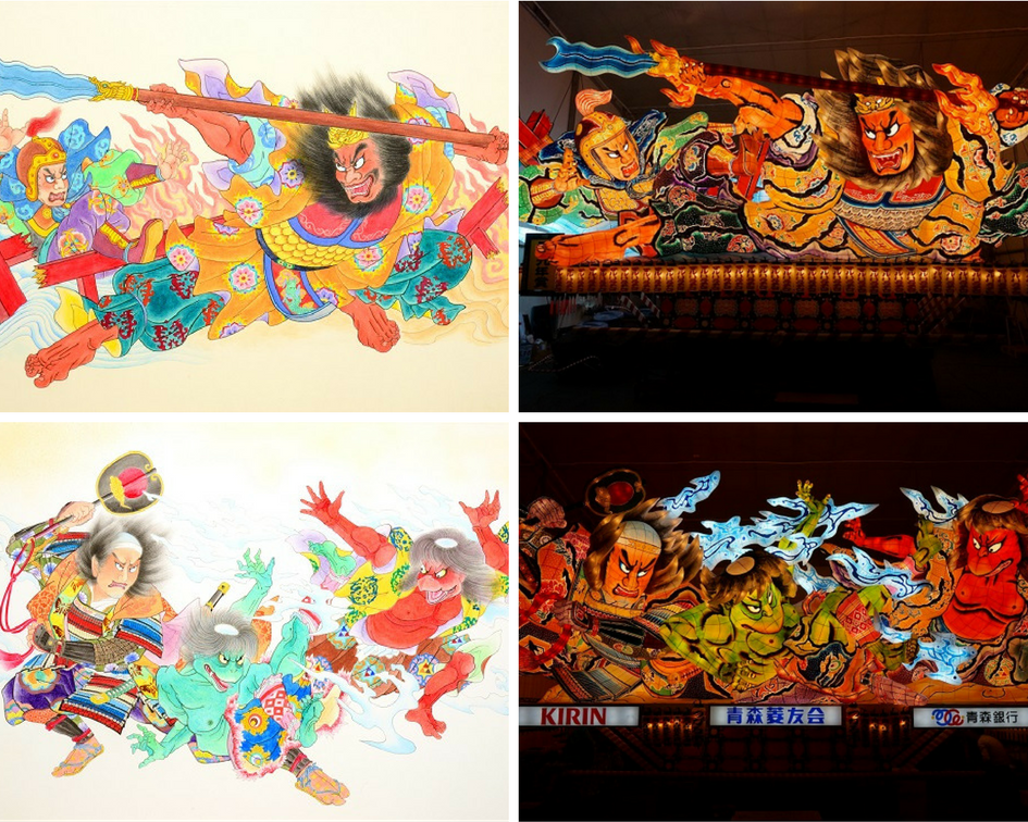 Hiroo Takenami original sketches and nebuta, Nebuta Arts