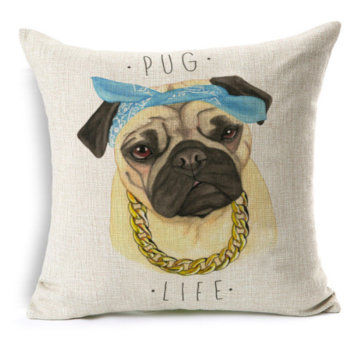 """Pug Life"" Pillow Case"
