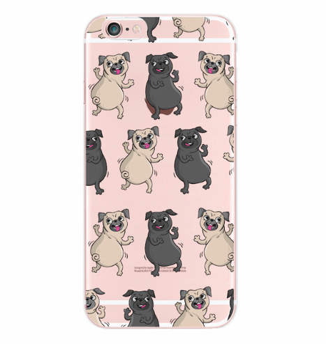 Dancing Pugs iPhone Case