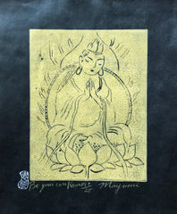 Be Your Own Kannon (Kwan Yin), Black and Gold, Sold as Set