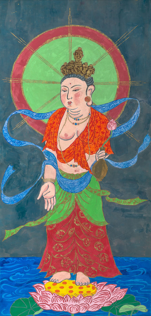 Eleven-Faced Kwan Yin, Giclée From the Large Thangka Painting