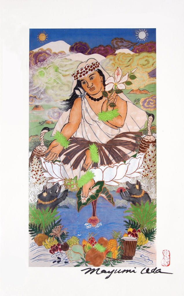 Poliahu, Giclée From  the Large Thangka Painting