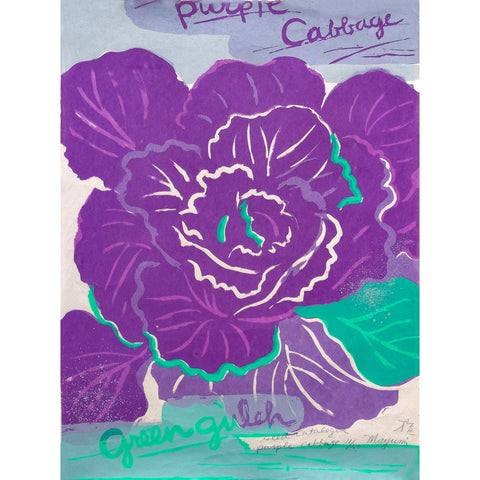 Green Gulch Seed Catalog, Purple Cabbage