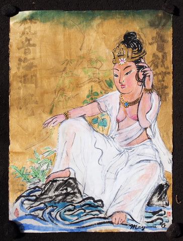 Quan Yin in White Robe, Sitting