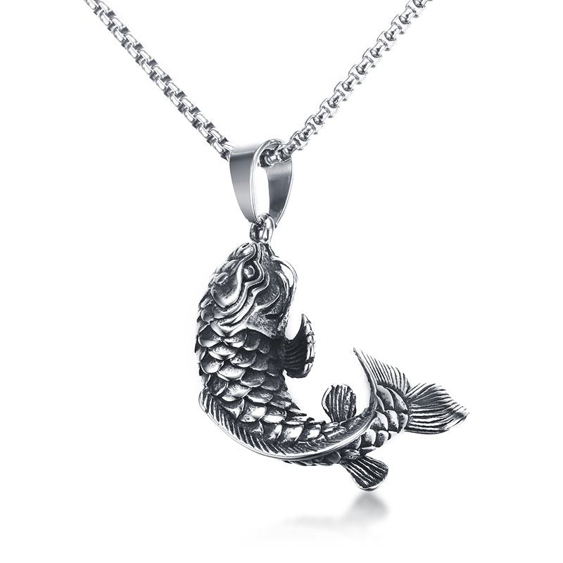silver inspirations jewelry fish tone bronze giani pt queen koi pendant
